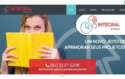 Imagem do Site da Portal Integral Cursos