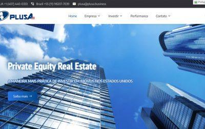 Imagem do Site da PLUSA Investimentos
